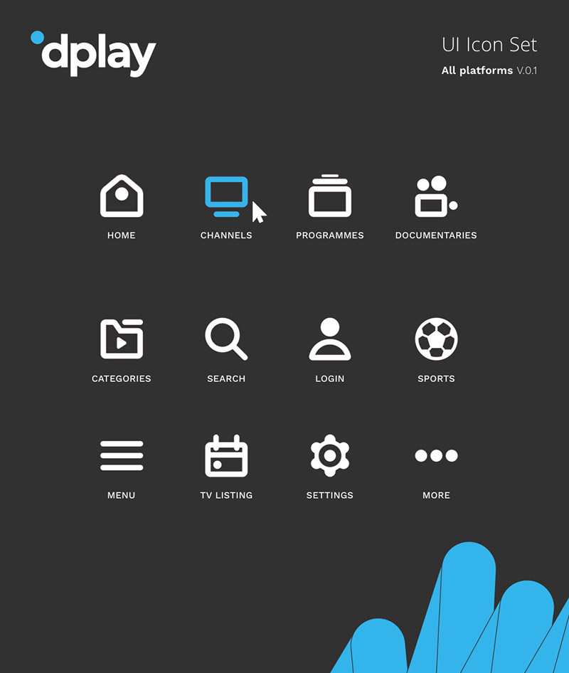 Dplay UI Icon Set
