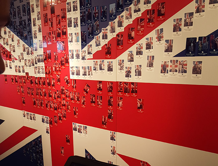 Team GB Clubhouse Strongbow Photo Wall Union Jack